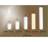 Lima Gastro hladká svíčka slonová kost válec 50 x 210 mm 1 kus