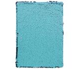 Albi Blok s flitry modro-fialový 15 cm x 21 cm