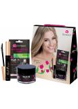 Dermacol Black Magic Mattifying Face Moisturizer hydratační pleťový gel pro ženy 50 ml + 3D textilní pleťová maska 15 ml + Black Swan řasenka černá 10 ml, kosmetická sada