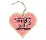 Bohemia Gifts Dřevěné dekorační srdce s potiskem Navždy spolu 12 cm