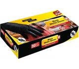 Fino  Nitrilové rukavice černé, velikost M 50 kusů