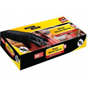 Fino Black Nitrile Gloves jednorázové nitrilové rukavice černé, velikost M 50 kusů
