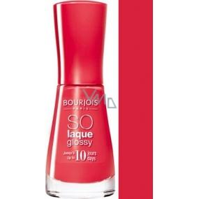 Bourjois So Laque Glossy lak na nehty 02 Prepp Hibiscus 10 ml