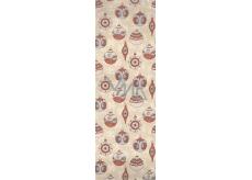 Nekupto Dárková papírová taška na láhev 33 x 10 x 9 cm vánoční 1256 02 WLH