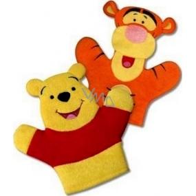 Disney Medvídek Pú mycí žínka pro děti 22 x 21,3 x 1,5 cm 1 kus