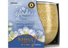 Glade Dancing Flowers - jasmín, lilie a jablko vonná svíčka ve skle doba hoření až 30 hodin 120 g