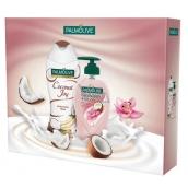 Palmolive Gourmet Coconut Joy sprchový gel 250 ml + Orchid & Coconut Milk Handwash + Lotion tekuté mýdlo s dávkovačem 250 ml, kosmetická sada