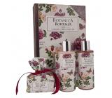 Bohemia Gifts & Cosmetics Botanica Šípek a růže sprchový gel 200 ml + šampon na vlasy 200 ml + ručně vyráběné toaletní mýdlo 100 g, kniha kosmetická sada