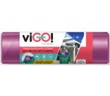 viGo! Pytle na odpad zatahovací fialové, 27 µ, 120 litrů 70 x 100 cm 10 kusů