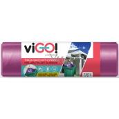 viGo! Pytle na odpad zatahovacího fialové 120 litrů 70 x 100 cm 10 kusů