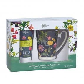 Bronnley RHS Natural Gardeners Therapy krém na ruce a nehty 100 ml + Hrneček dárková sada - POŠKOZENO