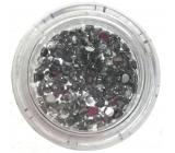 Professional Ozdoby na nehty kamínky stříbrné 132