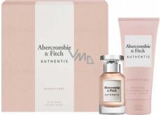 Abercrombie & Fitch Authentic Woman parfémovaná voda pro ženy 50 ml + tělové mléko 200 ml, dárková sada
