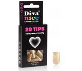 Diva & Nice Tips 20 nalepovací nehty zlaté 20 kusů