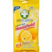 Green Shield Household Surface Wipes 4v1 pro domácnost antibakteriální čistící vlhčené ubrousky 50 kusů