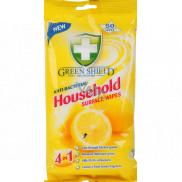 Green Shield Household Surface Wipes 4v1 pro domácnost antibakteriální čisticí vlhčené ubrousky 50 kusů