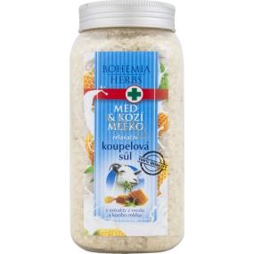 Bohemia Herbs Med a Kozí mléko relaxační koupelová sůl 900 g