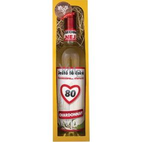 Bohemia Gifts Chardonnay Vše nejlepší 80 bílé dárkové víno 750 ml