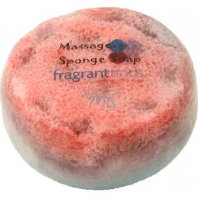 Fragrant Dupe Man Glycerinové mýdlo masážní s houbou naplněnou vůní parfému Joop Man v barvě modročervené 200 g
