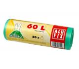 Alufix Sáčky do odpadkového koše zatahovací zelené, 15 µ, 60 litrů, 64 x 71 cm, 20 kusů HDPE