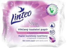 Linteo Vlhčený toaletní papír s kyselinou mléčnou 60 kusů