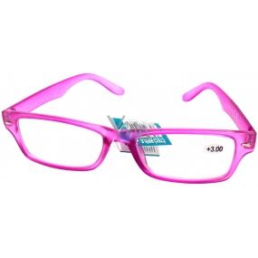 Berkeley Čtecí dioptrické brýle +3,0 růžové 1 kus MC2144