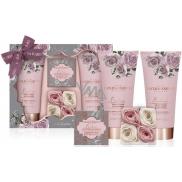 Baylis & Harding Boudoire Sametová růže a Kašmír sprchový krém 200 ml + mléko na ruce a tělo 200 ml + toaletní mýdlo 150 g + vonné mýdlové lístky 4 x 6 g, kosmetická sada