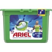 Ariel 3v1 Active Deo-Fresh gelové kapsle na praní prádla 13 kusů