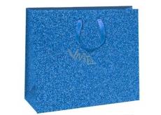 Ditipo Dárková papírová taška Glitter modrá 31 x 12 x 26 cm