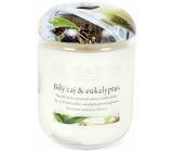 Heart & Home Bílý čaj & Eukalyptus Sojová vonná svíčka velká hoří až 70 hodin 310 g