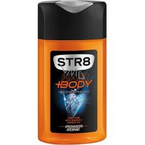 Str8 Power Zone sprchový gel na tělo a vlasy pro muže 250 ml