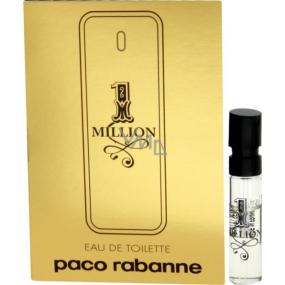 Paco Rabanne 1 Million toaletní voda pro muže 1,5 ml s rozprašovačem, Vialka