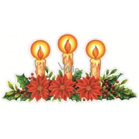 Okenní fólie bez lepidla svíčky pruh 42 x 22 cm