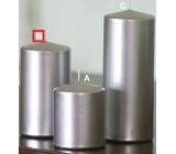 Lima Metal Serie svíčka stříbrná válec 80 x 150 mm 1 kus