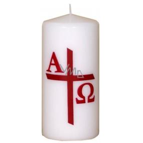 Lima Reliéf kostelní svíčka bílá válec 1017 70 x 150 mm