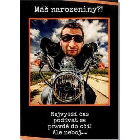 Albi Hrací přání do obálky K narozeninám Černý brejle Ready Kirken 14,8 x 21 cm