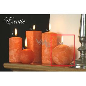 Lima Mramor Exotic vonná svíčka oranžová koule 80 mm 1 kus