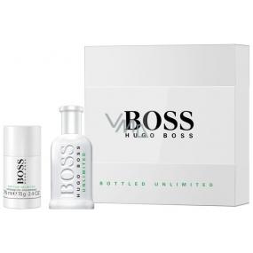 Hugo Boss Bottled Unlimited toaletní voda pro muže 100 ml + deodorant stick 75 ml, dárková sada