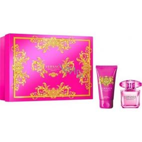 Versace Bright Crystal Absolu parfémovaná voda pro ženy 30 ml + tělové mléko 50 ml, dárková sada