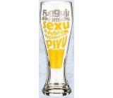 Nekupto Smích pivní sklenice humorné WH 008 Funguji jen díky smíchu, sexu a pivu 0,6 l