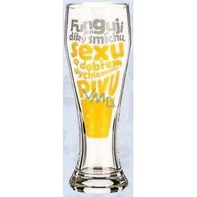 Nekupto Dárky s humorem Pivní sklenice humorné Funguji jen díky smíchu, sexu a pivu 0,6 l