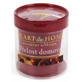 Heart & Home Vřelost domova Sojová svíčka bez obalu hoří až 15 hodin 53 g