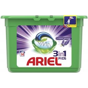 Ariel 3v1 Lavender Freshness gelové kapsle na praní prádla 14 kusů 378 g