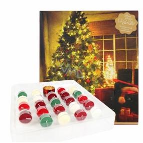 Heart & Home Adventní kalendář Sojová vonná svíčka čajová 24 kusů dárková sada