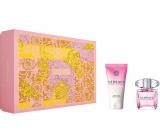 Versace Bright Crystal toaletní voda pro ženy 30 ml + tělové mléko 50 ml, dárková sada
