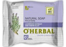O Herbal Natural Levandule a bílá hlína přírodní toaletní mýdlo 100 g