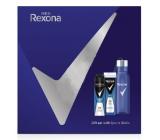 Rexona Men Cobalt 2v1 sprchový gel a šampon pro muže 250 ml + deodorant sprej pro muže 150 ml + láhev na vodu, kosmetická sada