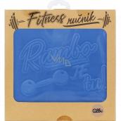 Albi Fitness ručník Rambo je tu modrý 90 x 50 cm