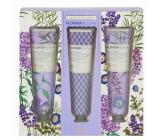 Heathcote & Ivory Flower Blooms Lavender Garden vyživující krém na ruce a nehty 3 x 30 ml, kosmetická sada