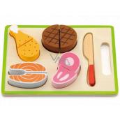 BABU Půlená dřevěná vkládačka jídlo 22,5 x 15 x 3 cm